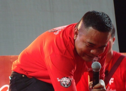 Red Shirt leader Jatuporn Prompan during a UDD speech