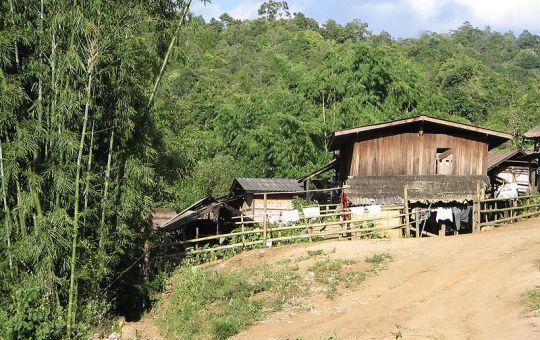 Village of the Karen hilltribe in northern Thailand