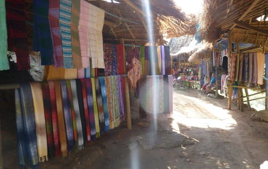 Karen village in Thailand