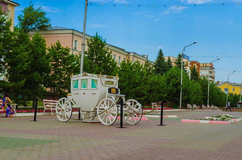 Kostanay, city centre in Kazakhstan