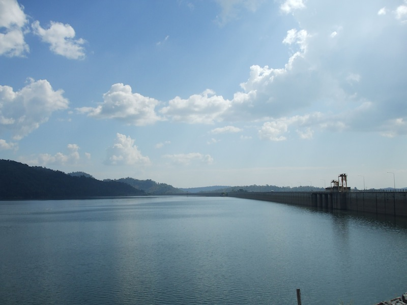 Khlong Tha Dan Dam Reservoir in Nakhon Nayok Province