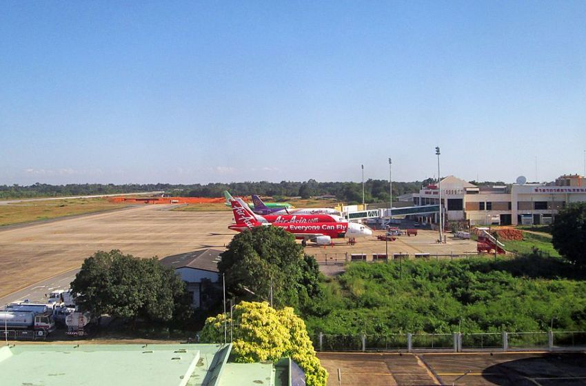 Khon Kaen Airport viewed from control tower