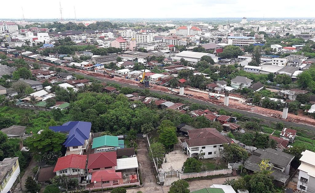 Thai-Chinese high speed rail link under construction in Khon Kaen