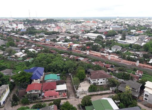 Thai-Chinese high speed rail link under construction in Khon Kaen