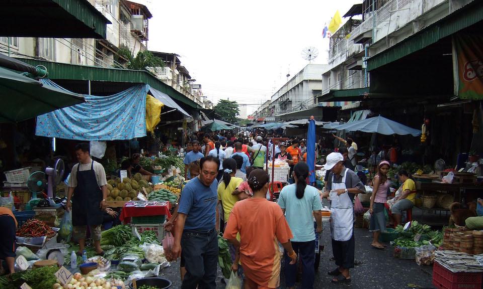 Klong Toey Market in Bangkok
