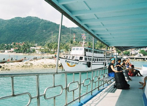 Ferry at Haad Rin pier in Koh Phangan