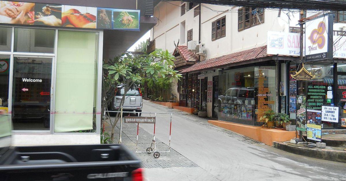 Street in Koh Samui, Island