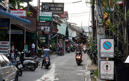 Narrow street in Koh Samui