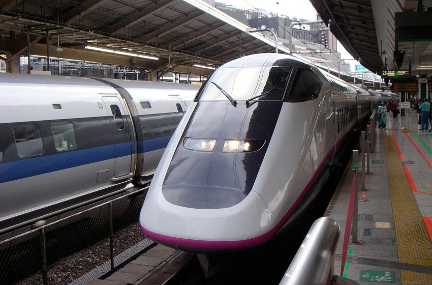 Komachi Shinkansen train at Tokyo Station, Japan