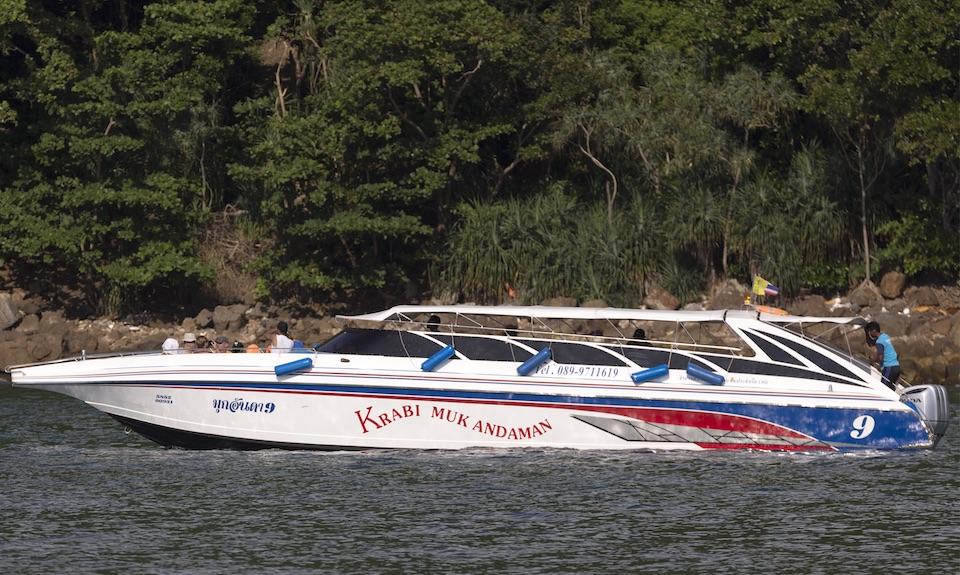 Krabi Muk Andaman speedboat in krabi