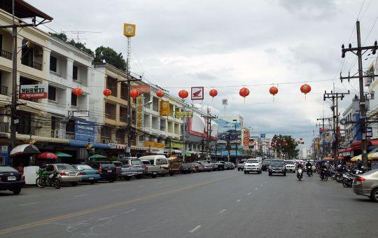 Street view of Krabi Town