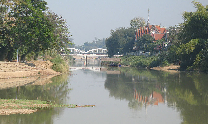 Wang River in Lampang