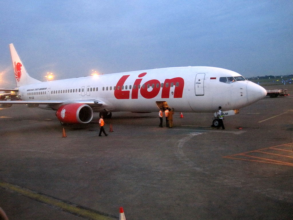 Lion Air Boeing 737-900ER at Soekarno–Hatta International Airport , Indonesia