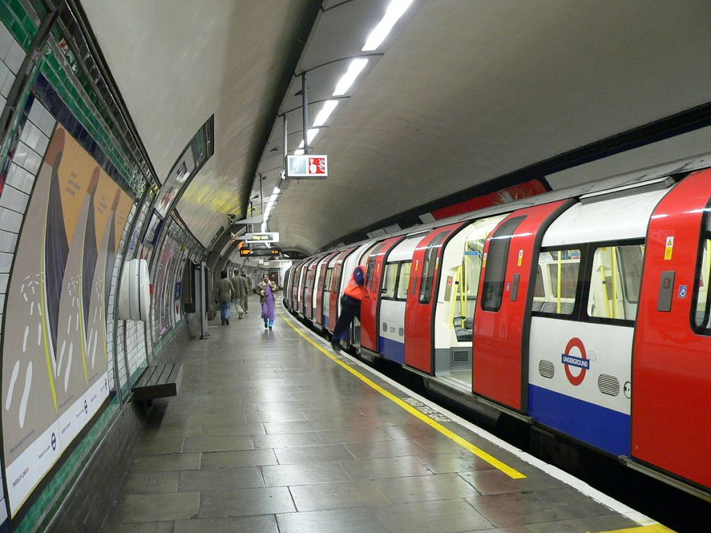 South Wimbledon tube station in London