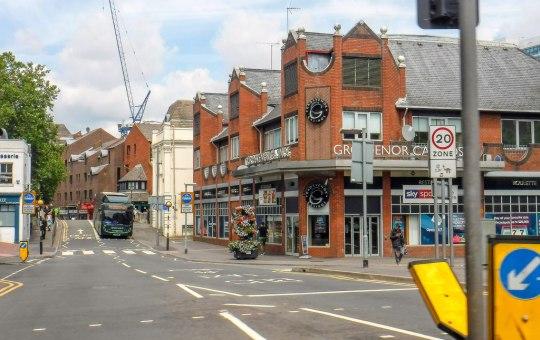 Street near Reading in London, England, Great Britain