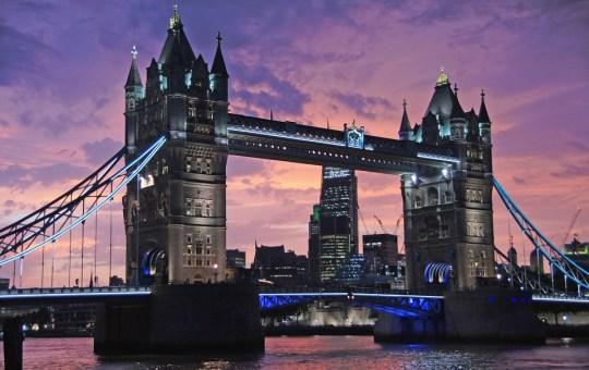 Bridge Across the River Thames in London