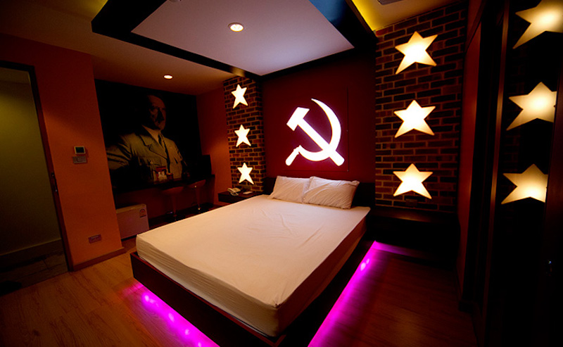 Communist room at Love Villa Hotel in Nonthaburi