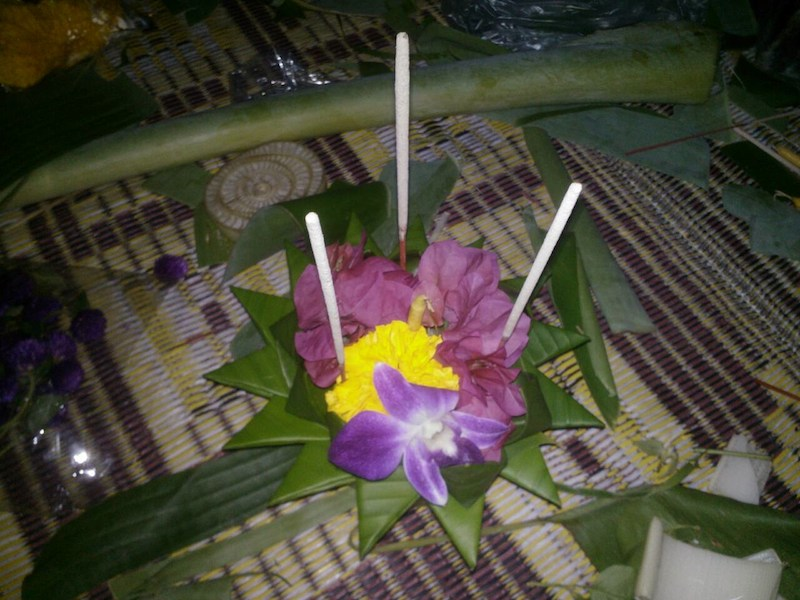 The popular Loy Krathong Festival in Thailand