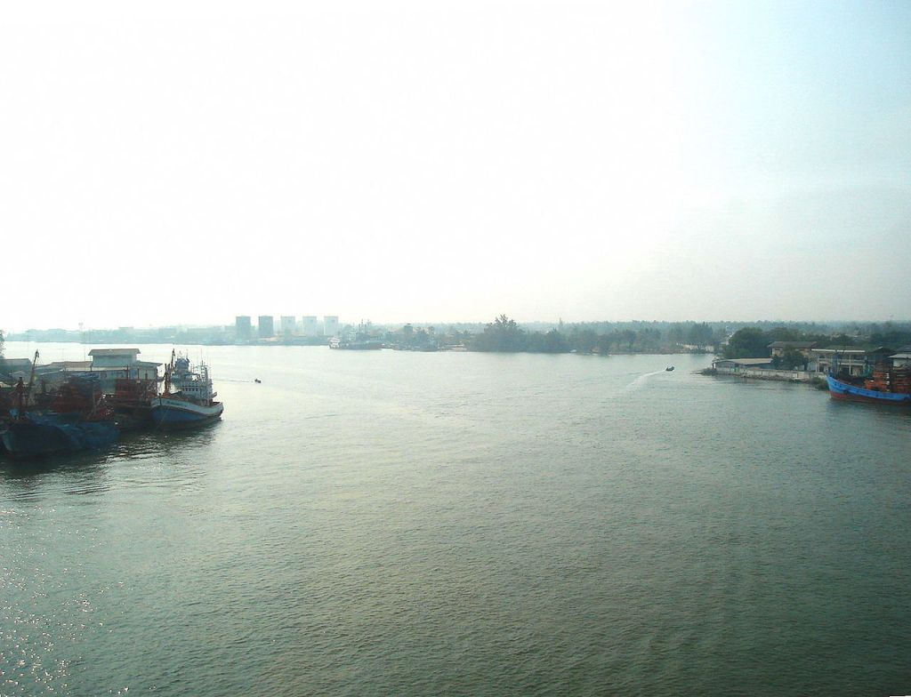 Mae Klong River in Samut Songkhram