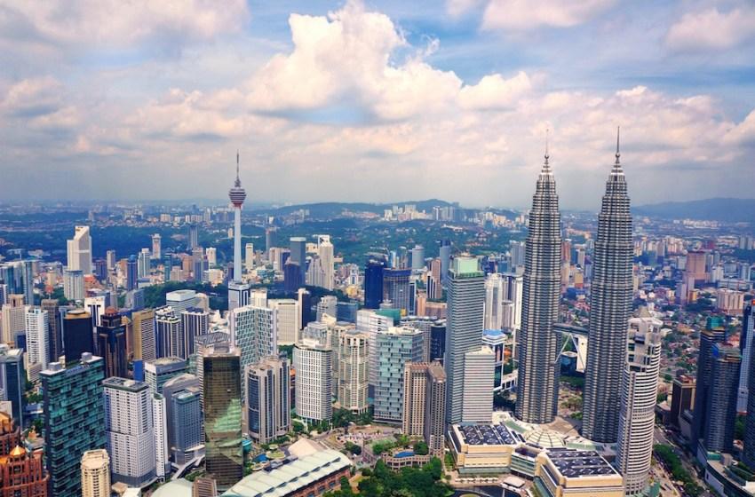Skyline and buildings in Kuala Lumpur, Malaysia