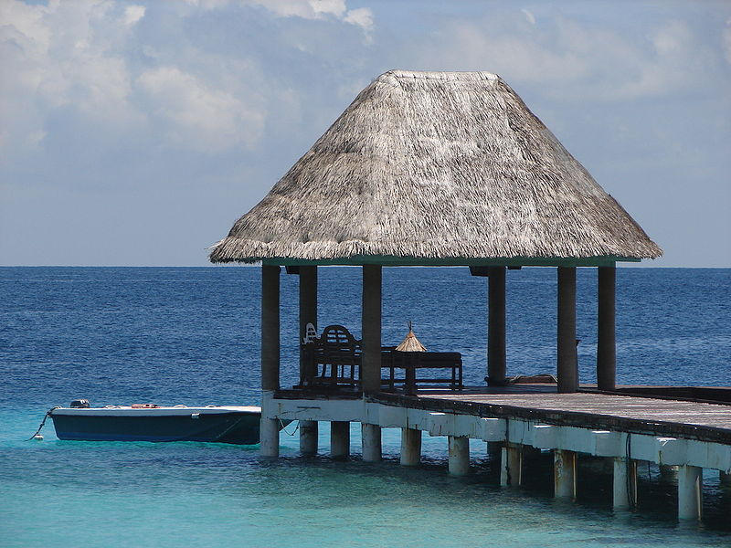 Paradisiacal view of Maldives