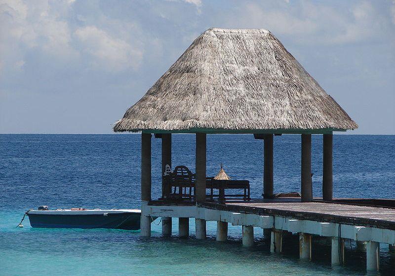 Paradisiacal view of Maldives
