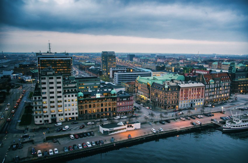 Aerial view of Malmö, Sweden