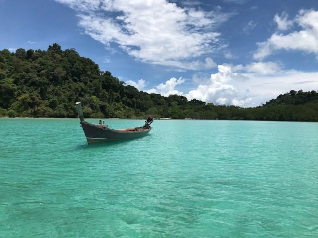 Long tail boat in Mergui archipelago