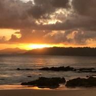 On the beach at dusk in Mergui archipelago