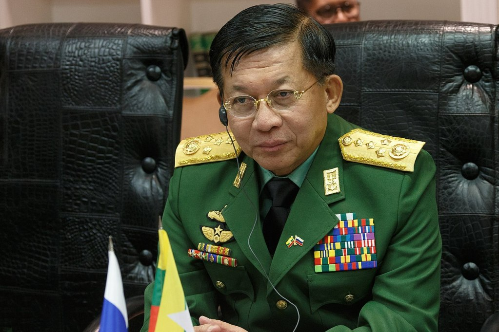 Myanmar Military Junta leader Min Aung Hlaing in April 2019