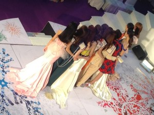 Preliminary beauty pageant event at Central World Mall in Bangkok. Miss Universe