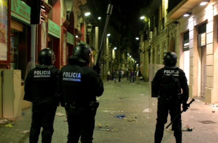 Mossos d'Esquadra anti riot Brimo in Barcelona