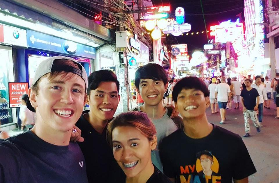 "American YouTuber ""My Mate Nate"" and friends"