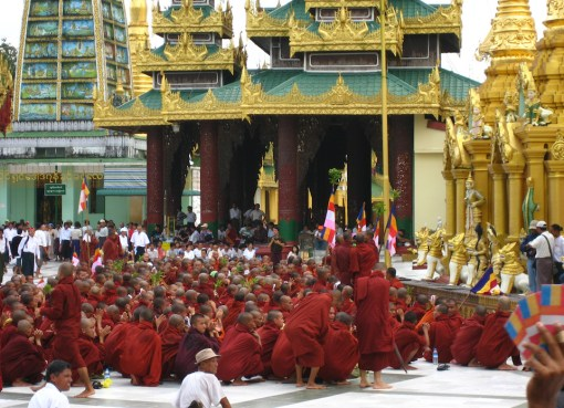 Monks Protesting in Burma