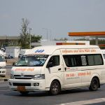 NGV Toyota Commuter minivans at Suvarnabhumi airport, Bangkok