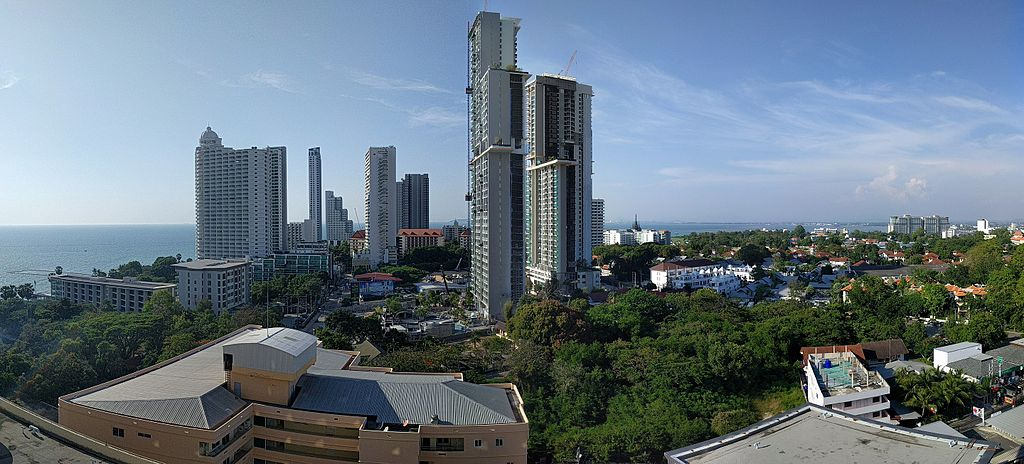 Pattaya from a balcony of the Long Beach Garden hotel