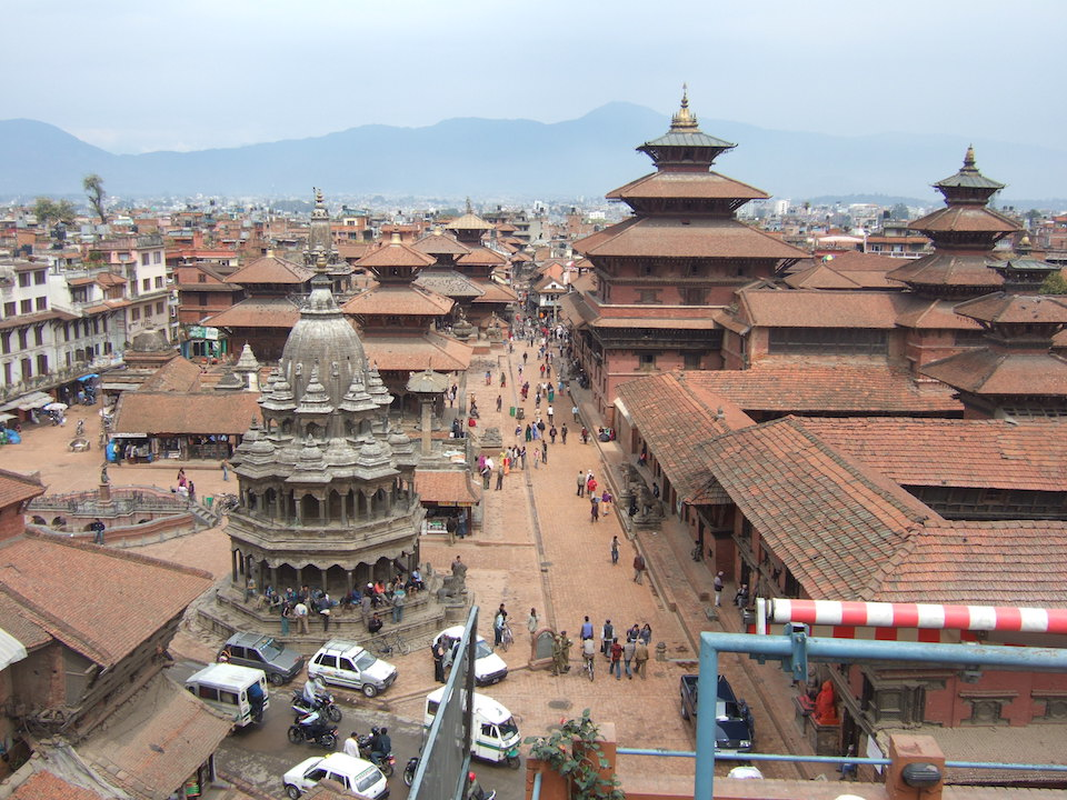 Durbar Square in front of the old royal palace in Patan, Nepal