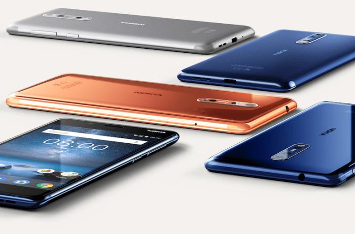 Nokia 8 smartphones