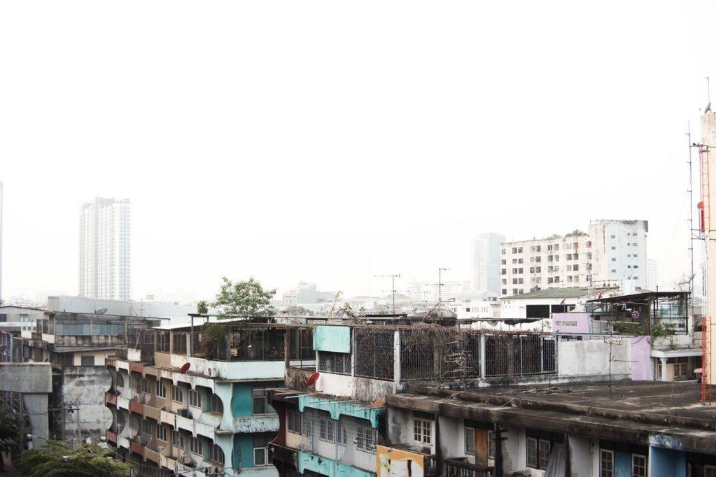 Old apartment buildings in Bangkok