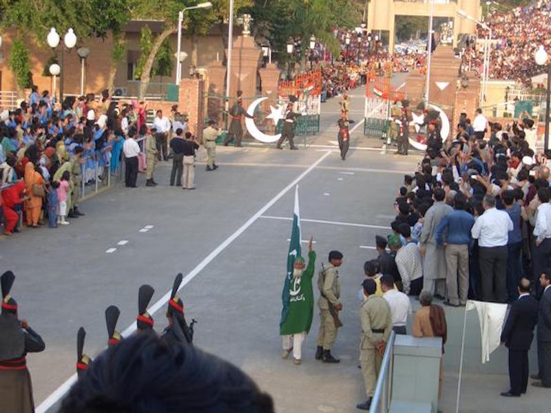 Wagah Border in Lahore, Pakistan