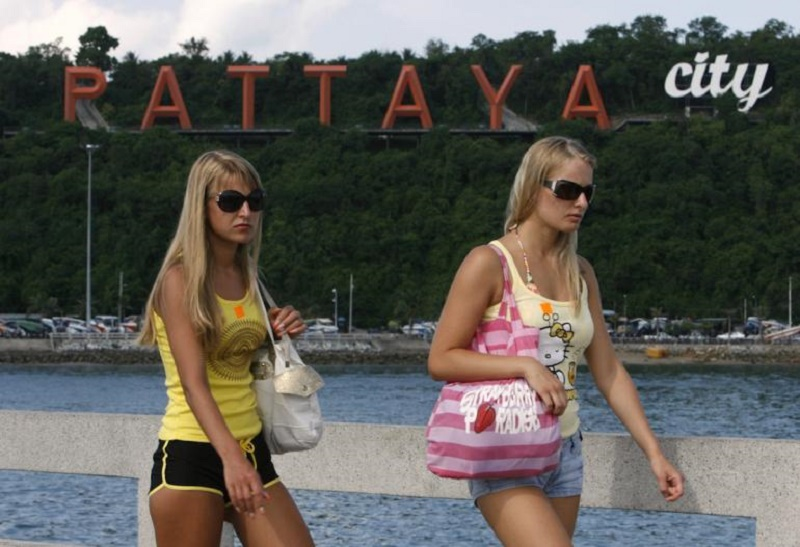 Russian female tourists in Pattaya