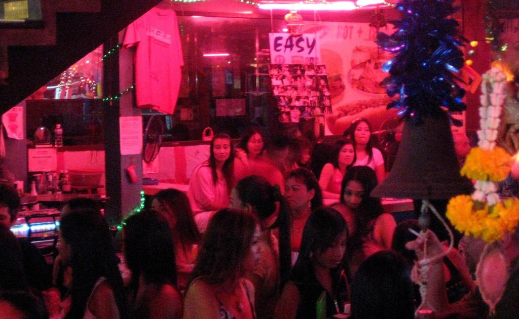 Bar girls in Walking Street,