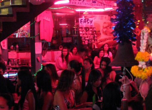 Bar girls in Walking Street,