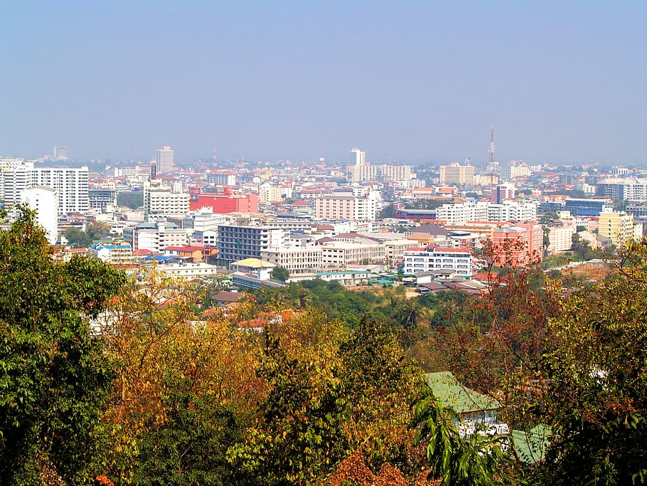 Pattaya viewed from a hill