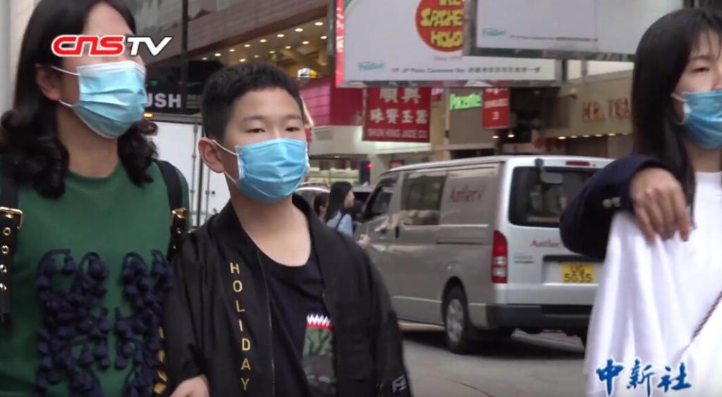 People wearing masks in Hong Kong for COVID-19 coronavirus outbreak