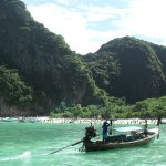 Longtail boat in Phi Phi islands