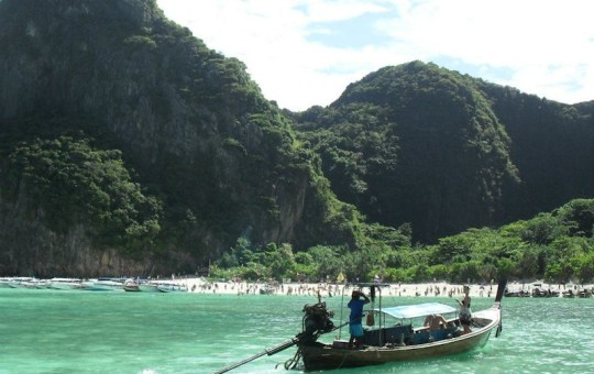 Longtail boat in Phi Phi islands