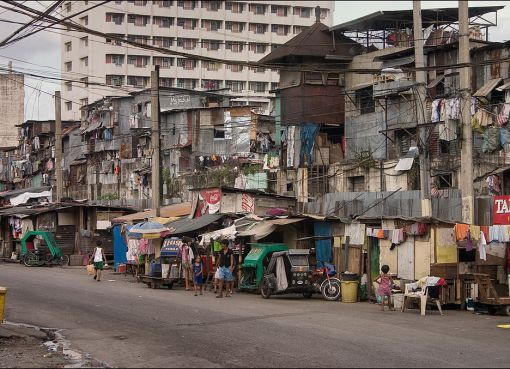 A suburb in Manila city, Philippines