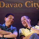President Benigno S. Aquino III converses with Davao City Vice Mayor Rodrigo Duterte