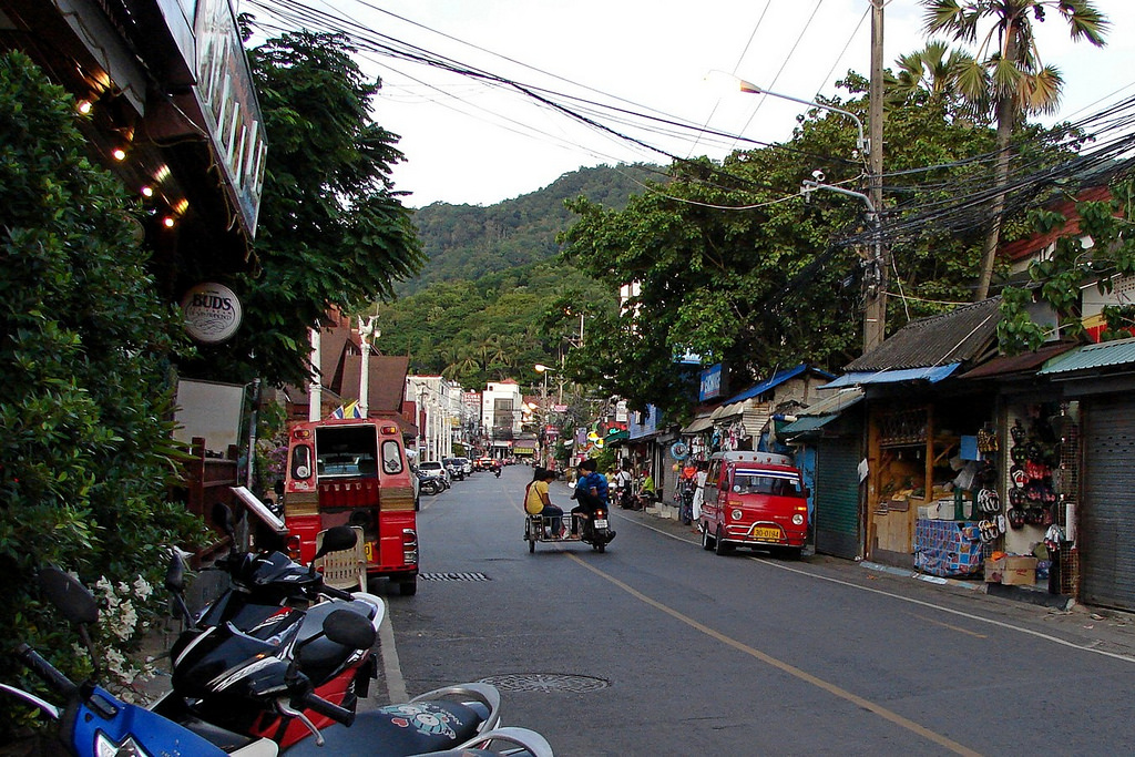 Luang Phor Chuan road in Karon Beach, Phuket